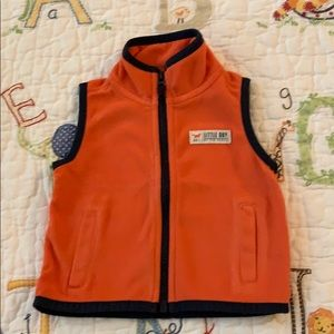 Boy's orange fleece vest